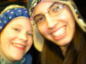 """{Photo: Two women smiling during a """"selfie"""", bundled up for the cold}. My lifelong best friend, Lindsay, and I, days after my name change."""